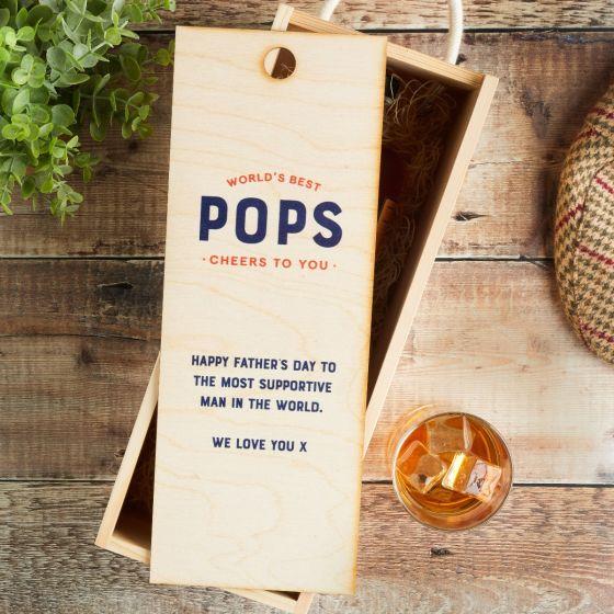 World's Best... Personalised Wooden Bottle Box