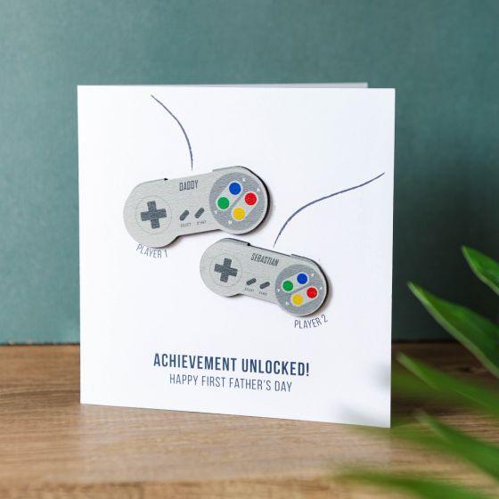 Retro Gaming Controllers Keepsake Card