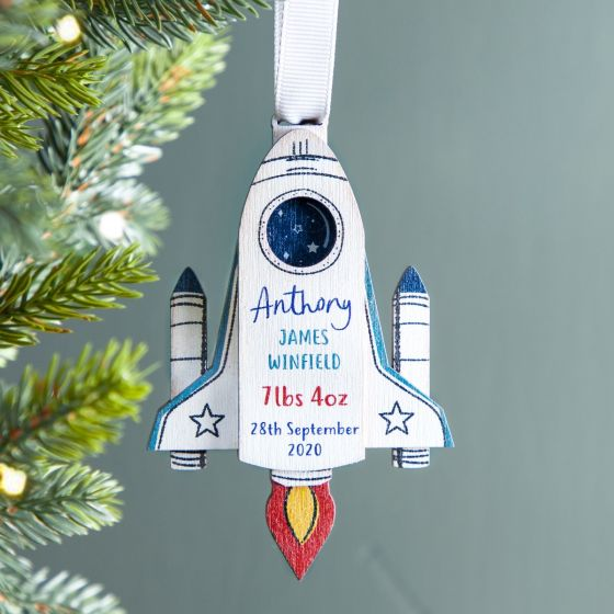 Baby Details Rocket Ship Hanging Decoration
