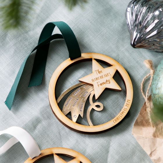Shooting Star Family Layered Hanging Decoration