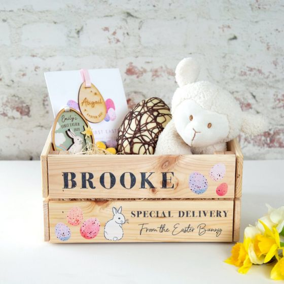 Special Delivery Easter Bunny Wooden Crate (Contents not included)