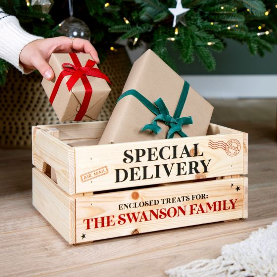 Stamped Special Delivery Christmas Eve Crate