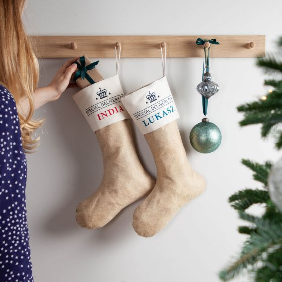 Personalised Special Delivery Christmas Stocking