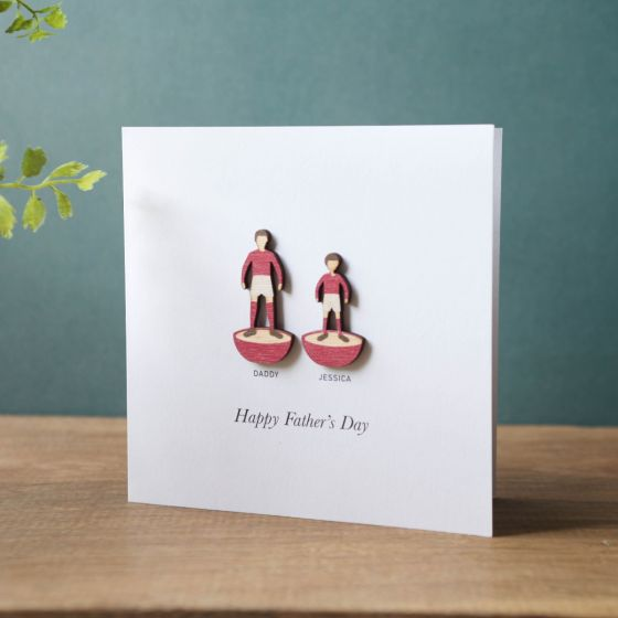 Wooden Subbuteo Characters Father's Day Card