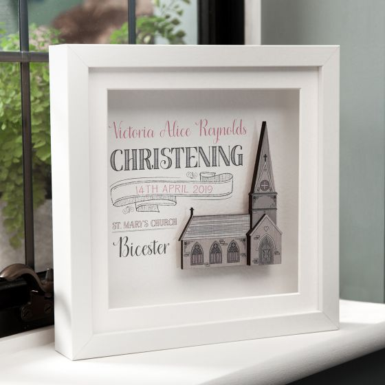 Personalised Traditional Christening Frame