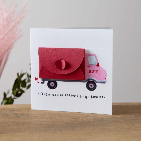 Truck Loads of Love Valentine's Card