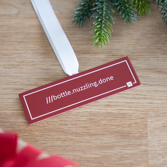 what3words Hanging Christmas Decoration