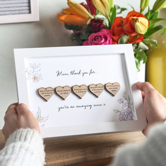 Personalised Reasons I Love You Hearts A5 Frame