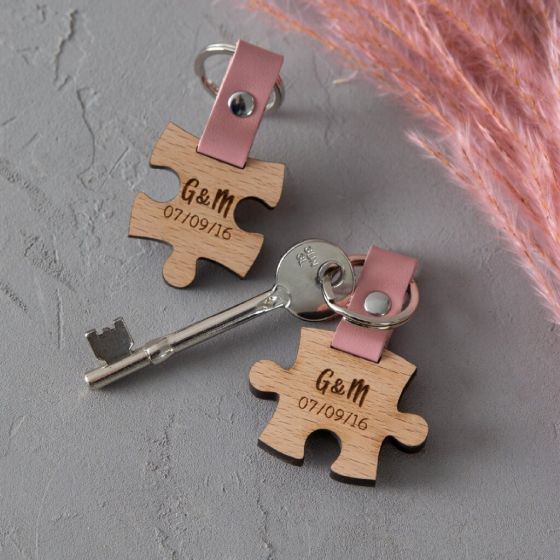 Wooden Puzzle Set of Keyrings